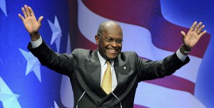 """Tea party loves Herman Cain"""